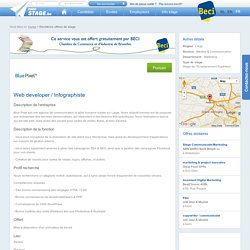 stage Web developer / Infographiste - MonStage.be