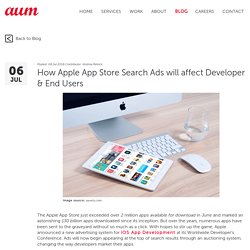 How Apple App Store Search Ads will affect Developer & End Users – Aumcore Blog