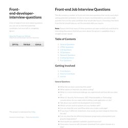 Front-end-developer-interview-questions by h5bp