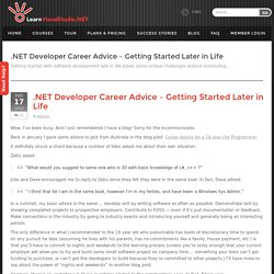 C# .NET Developer Career Advice, Getting Started -LearnVisualStudio.NET