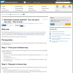 Developer Center HOWTO - Get and Install a SAP