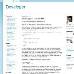 The chetankjain dev Blog: Minimal required code in HTML5