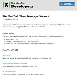 Times Developer Network - Welcome
