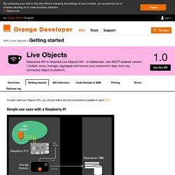 Orange Developer - Live Objects - Getting started