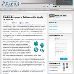 A Mobile Developer's Outlook on the Mobile Landscape