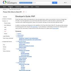 Developer's Guide: PHP - Picasa Web Albums Data API