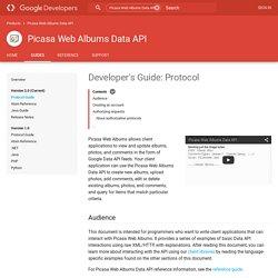 Picasa Web Albums Data API