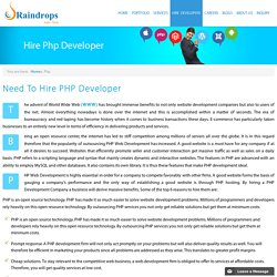 Hire PHP Developer – Raindrops InfoTech