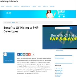 Benefits Of Hiring a PHP Developer