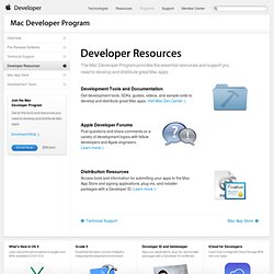 Developer Resources - Mac Developer Program - Apple Developer