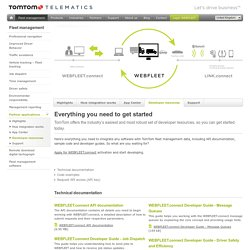 Developer resources - TomTom Telematics GB