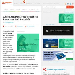 Adobe AIR Developer's Toolbox: Resources And Tutorials | De