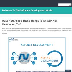 Hire Expert Asp.Net Developers to Help You Achieve Higher Grounds