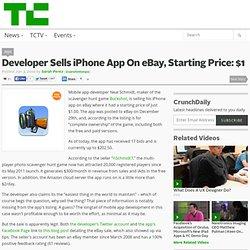 Developer Sells iPhone App On eBay, Starting Price: $1