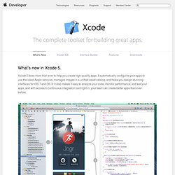 Xcode - Developer Tools Technology Overview - Apple Developer