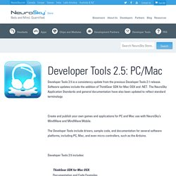 Developer Tools 2.5: PC/Mac