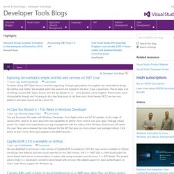 Developer Tools Blogs