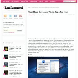 Must Have Developer Tools Apps For Mac