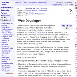 Web Developer - Le coin du Webmaster - Logiciels Libres
