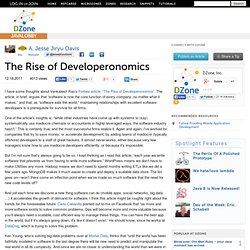 The Rise of Developeronomics
