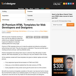 40 Premium HTML Templates for Web Developers and Designers