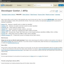 Developers / API