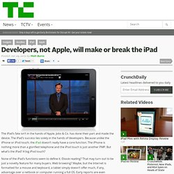 Developers, not Apple, will make or break the iPad