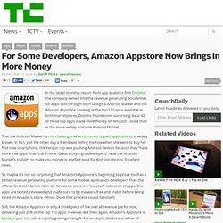 For Some Developers, Amazon Appstore Now Brings In More Money