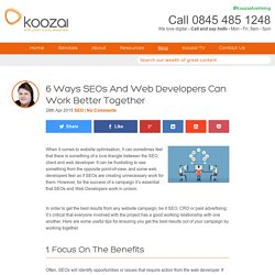 6 Ways SEOs And Web Developers Can Work Better Together