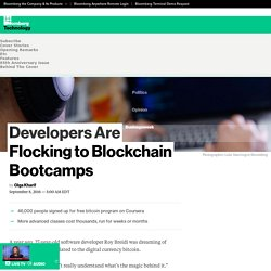 Developers Are Flocking to Blockchain Bootcamps - Bloomberg