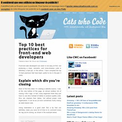 Top 10 best practices for front-end web developers