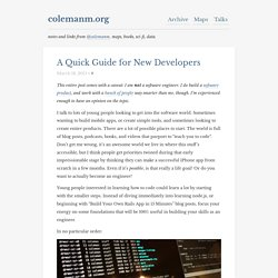 A Quick Guide for New Developers