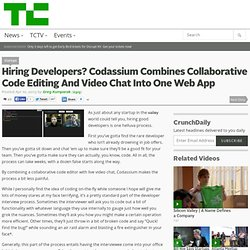 Hiring Developers? Codassium Combines Collaborative Code Editing And Video Chat Into One Web App