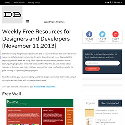 Weekly Free Resources for Designers and Developers [November 11,2013]