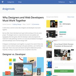 Why Designers and Web Developers Must Work Together