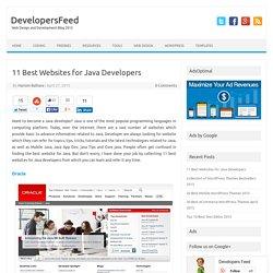 11 Best Websites for Java Developers
