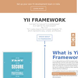 Yii Framework Development Company India