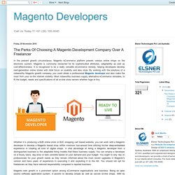Magento Developers: The Perks Of Choosing A Magento Development Company Over A Freelancer
