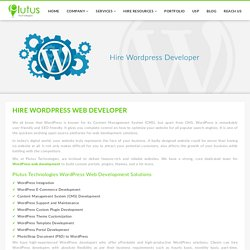 Hire Dedicated wordpress web developers from effective cms development