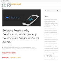 Exclusive Reasons why Developers choose Ionic App Development Services