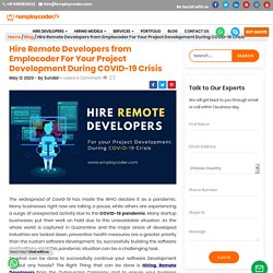 Hire Remote Developers from Emplocoder For Your Project Development During COVID-19 Crisis