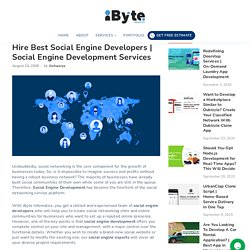 Get the Best Social Engine Development Services