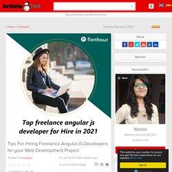 Top freelance angularjs developer for Hire in 2021