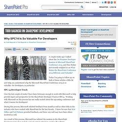 Todd Baginski on SharePoint Development