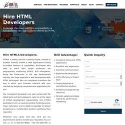 Hire HTML5 developer