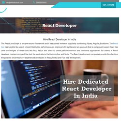 Hire React Developers (Redux)- React js development company India