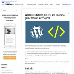 WordPress Actions, Filters, and Hooks : A guide for non-developers - Press Customizr Documentation