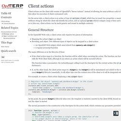 Client actions — OpenERP Web Developers Documentation 7.0 documentation
