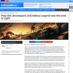 How the developers of Endless Legend see the end in sight
