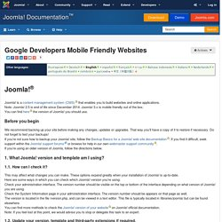 Google Developers Mobile Friendly Websites